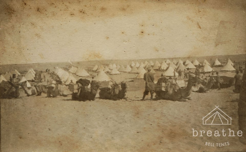 Bell tents during WW1
