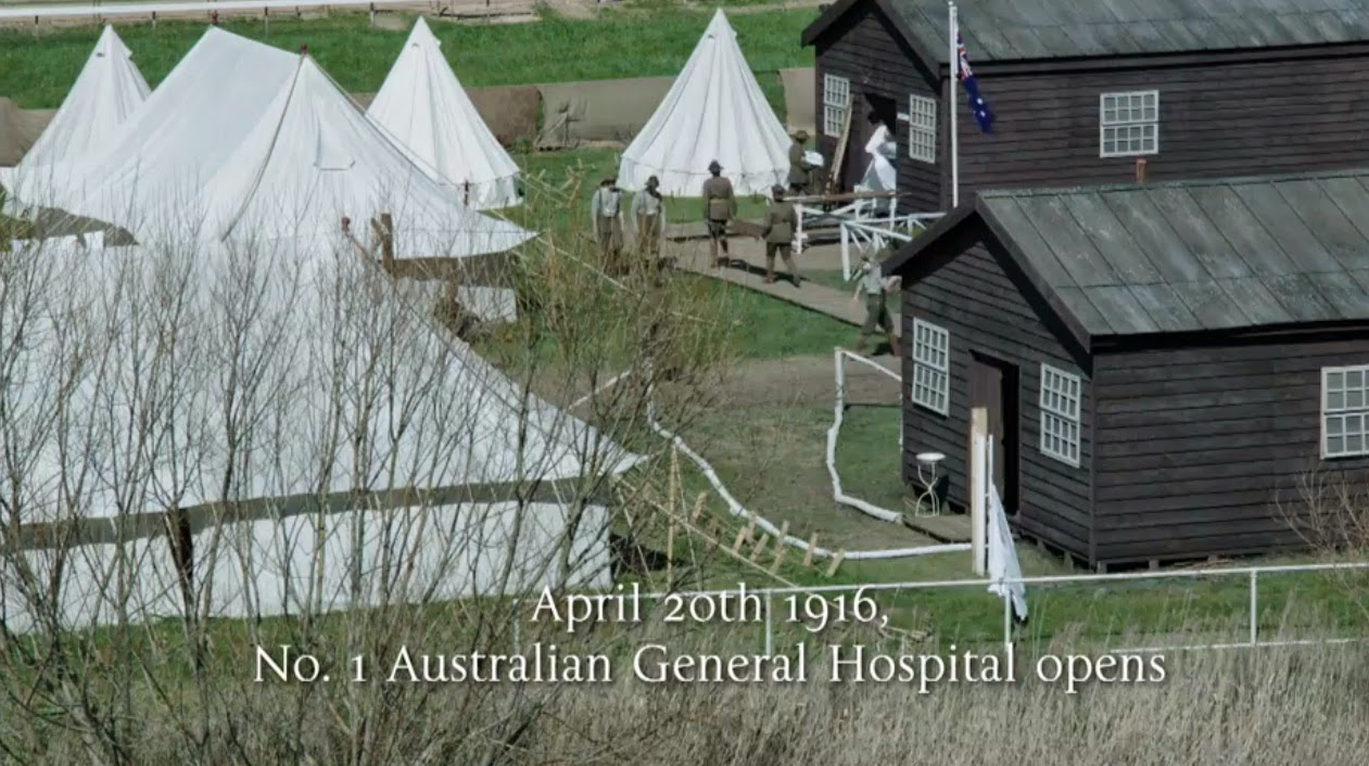 April 20th 1910 Australian General Hospital made up of Bell Tents