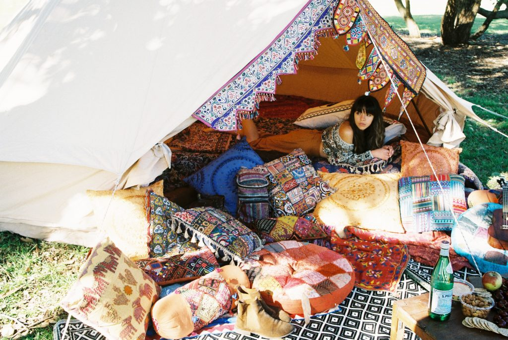 Bell Tent Gl&ing Bohemian Luxe C&ing Styling Festival Party diameter bell tent lightweight canvas. & Is it time to re-waterproof your bell tent - Breathe Bell Tents ...