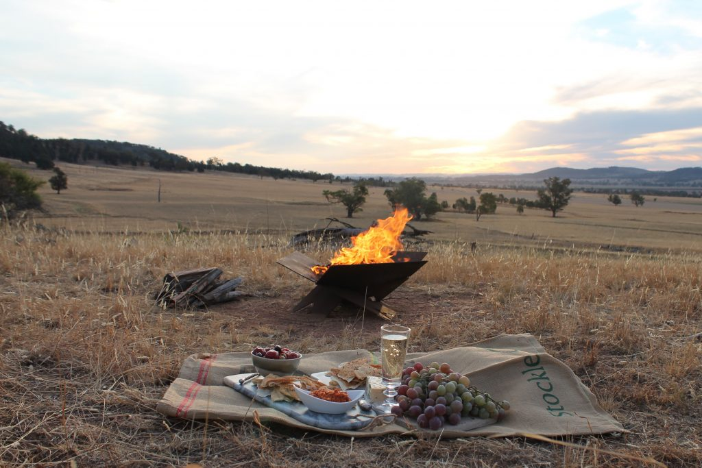 The Fire Away Pit, the perfect accessory to your bell tent