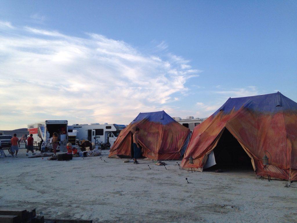 Burning Man 6m diameter Emperor Twin Bell Tent