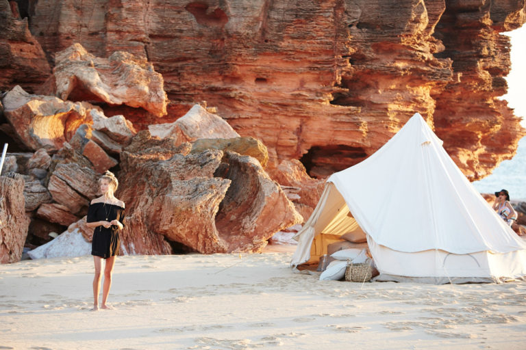Bell Tent, Beach Life, Seafolly Broome Campaign