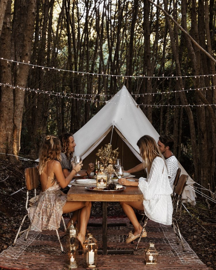 Glamping Picnic In The Forest