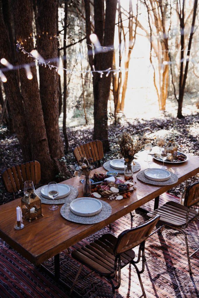 Glamorous Camping Dinner