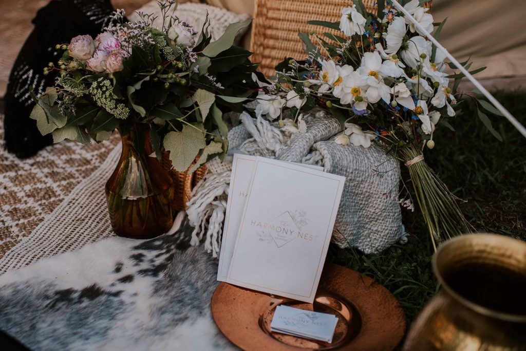 Flowers for you glamping bell tent elopement wedding package