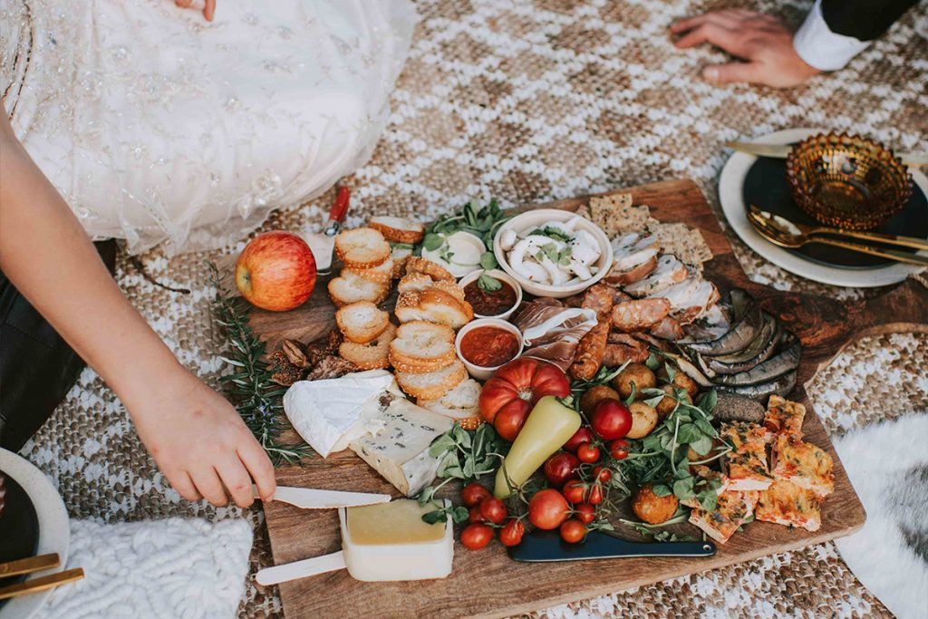 Catering wedding elopement glamping bell tent packages