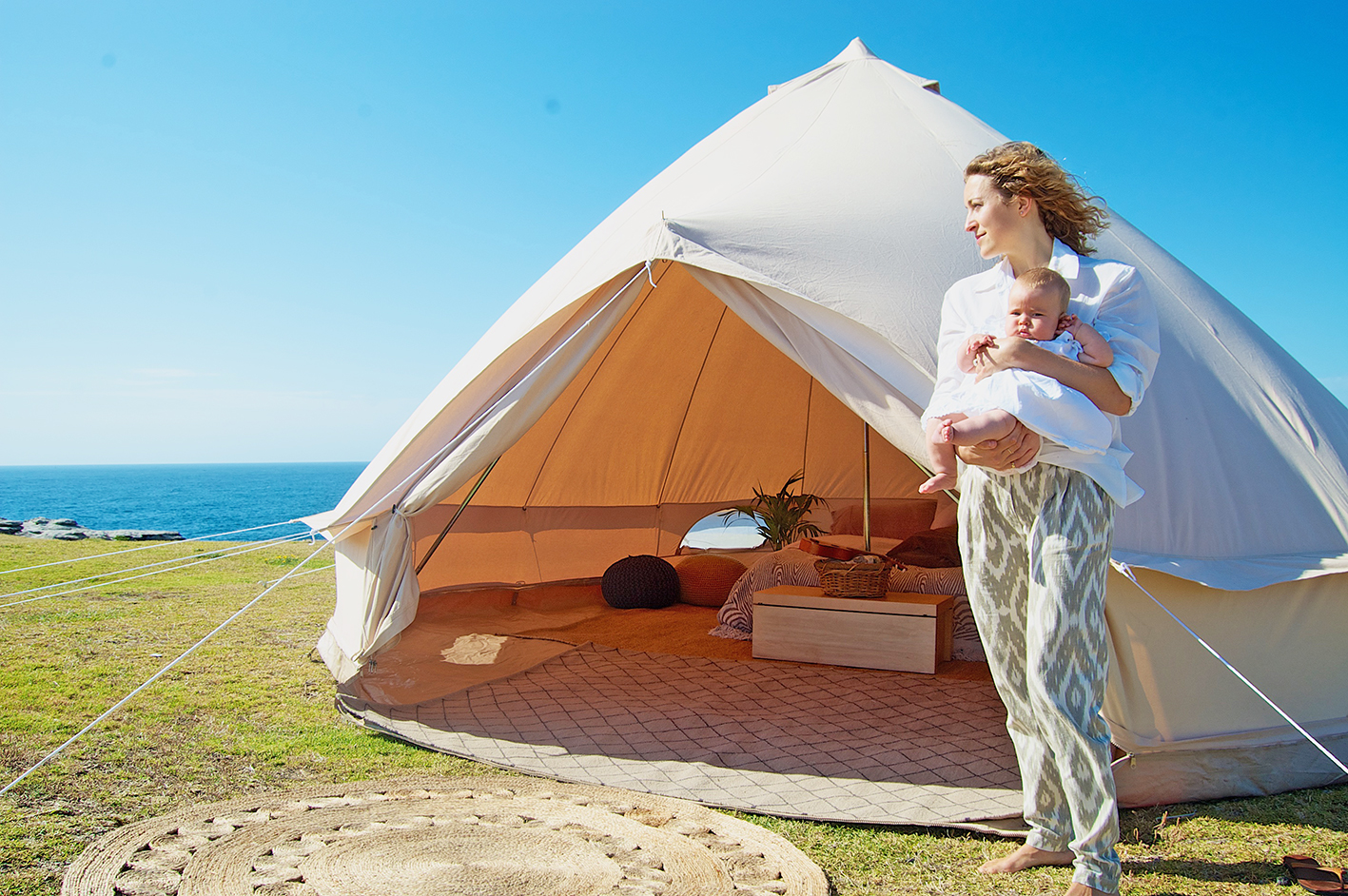 Breathe Bell Tents Australia & Roughing it in style - Breathe Bell Tents Australia -