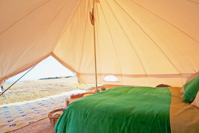 Bell Tent Interior 5m diameter & 5m Ultimate Sibley Bell Tent - Breathe Bell Tents Australia