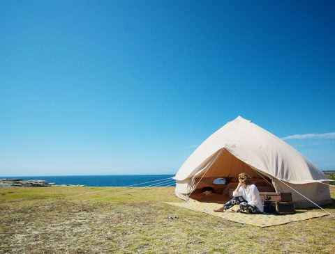 5m diameter bell tent ideal for glamping and camping.
