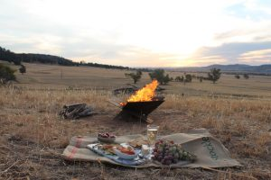 Camping Fire Pit Flat Pack for easy transportation ideal companion to bell tent