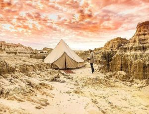 4.5m Protech Breathe Bell Tents Australia Natural Canvas Safari Style Tents Ideal for your camping and Glamping Trips
