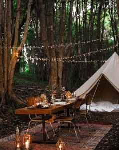 Protech Bell Tent Australia Canvas Camping tent interior stylist