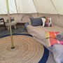 Example of 4m diameter bell tent layout.