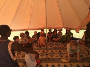 5m diameter Bell Tent ideal for children's birthday parties