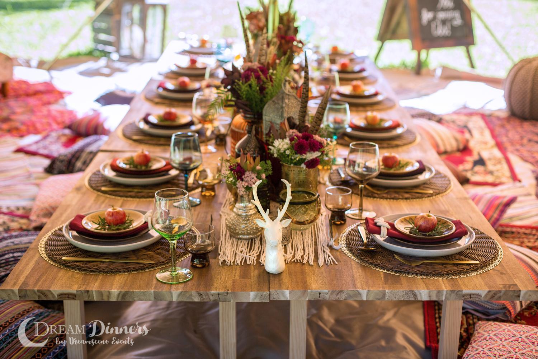 6m diameter Protech Canvas Bell Tent Double Door Dinner Styling Charity Ball Event dinner