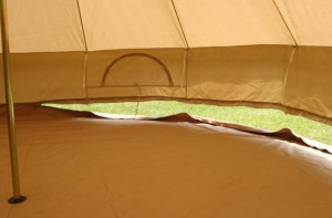 5m diameter Bell tent with zipped walls
