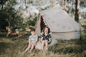3m diameter bell tent, bckyard sleepover, backyard camping, airbnb, accomodation, childrens party, camp out, natural canvas tent, childrens party, tent, roadtrips, glamping, camping, breathe bell tents