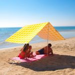 Morning Sunshine Beach Shade accessory, sunshade, umbrella, beach accessory, glamping, bell tent accessory, camping, beach life