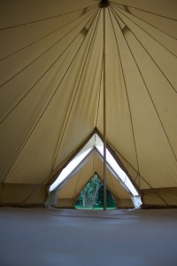 6m diameter Bell Tent Double Door