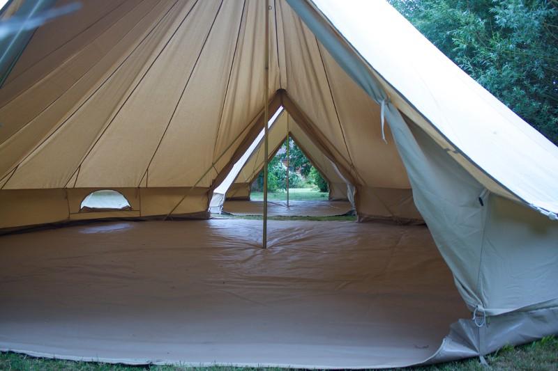 6m diameter Ultimate PROTECH Double Door Bell Tent Glamping Tent