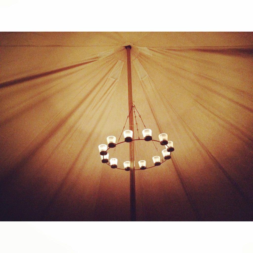 Bell Tent Chandelier Bell Tent Camp lighting