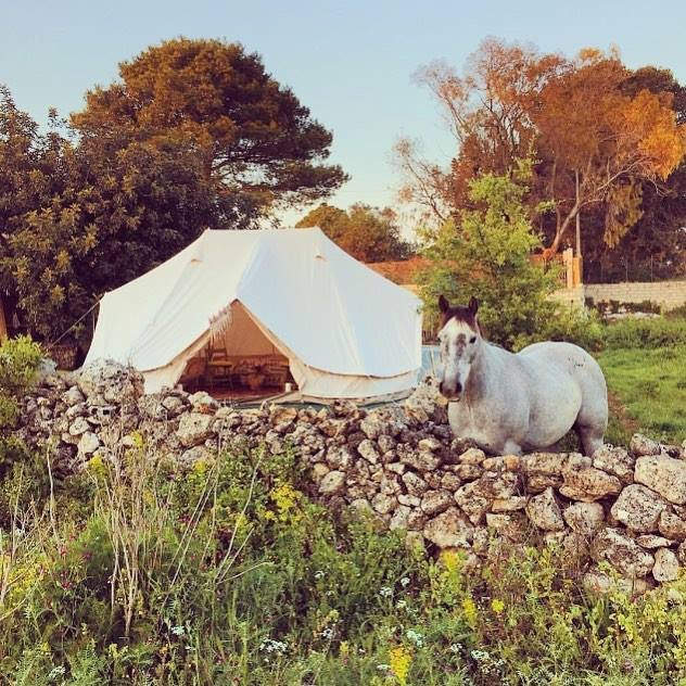 6m Emperor Twin Bell Tent in Sicily @bertoldwiesner & The Emperor 6m Twin Bell Tent the epitome of Glamping!