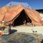 6m diameter Emperor TWIN Bell tent at Burning Man Festival