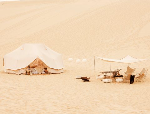 6m diameter Emperor Twin Bell Tent Glamping Tent, natural canvas, camping glamping, african safari