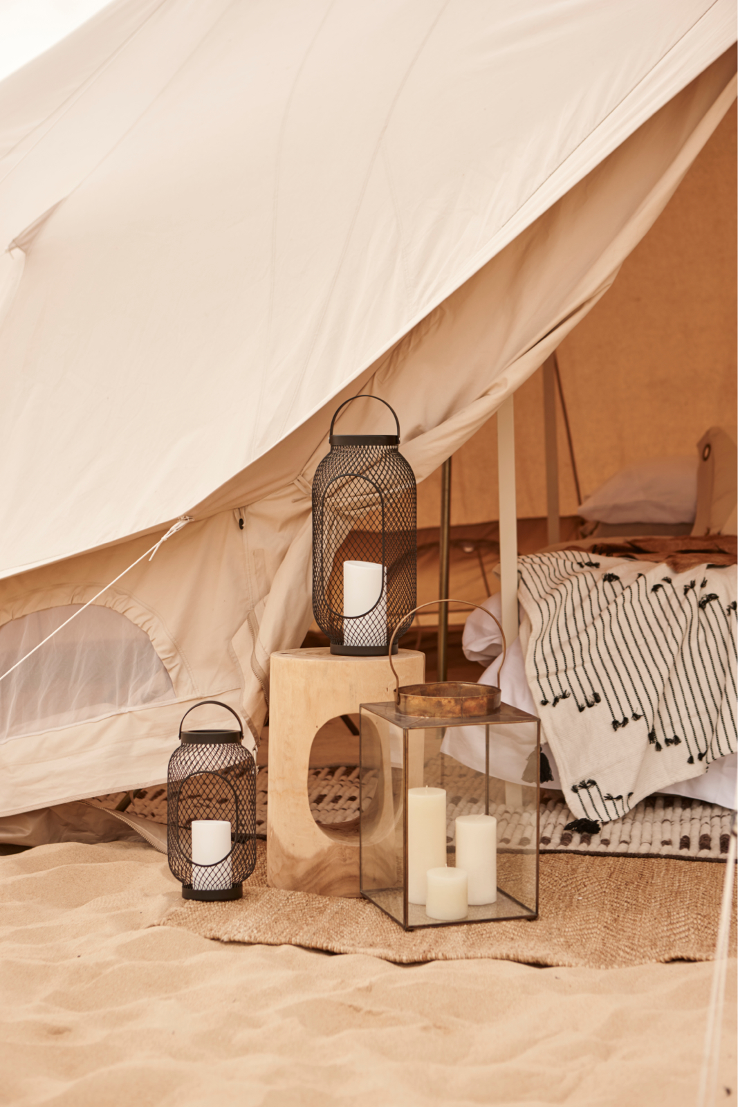 6m diameter Emperor Twin Bell Tent Glamping Tent, natural canvas, camping glamping, african safari