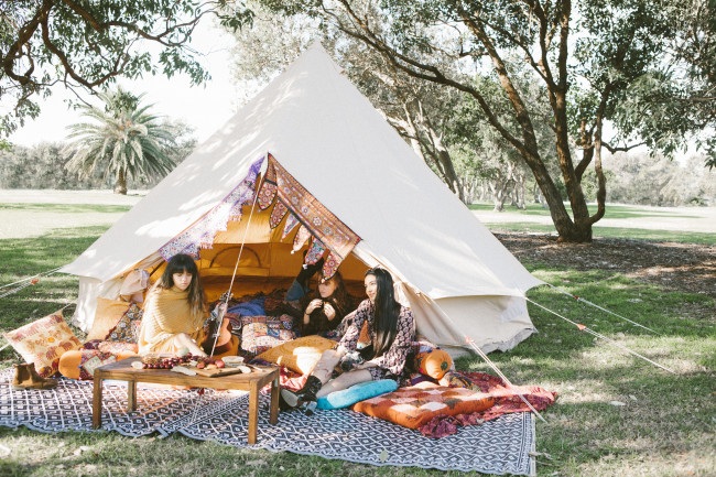 5m Ultimate Bell Tent & 5m Ultimate Sibley Bell Tent - Breathe Bell Tents Australia
