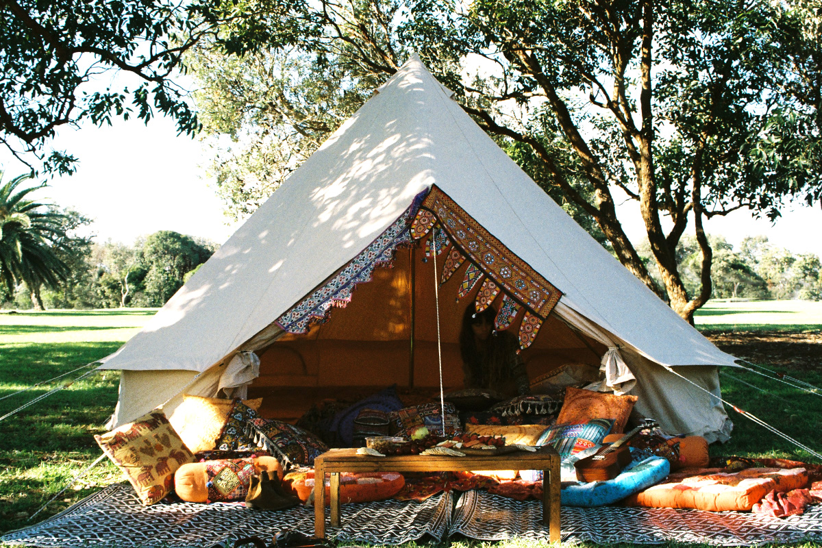 5m diameter Ultimate PRO Bell Tent for Gl&ing C&ing and Event Styling & 5m Ultimate Pro Bell Tent - Breathe Bell Tents Australia