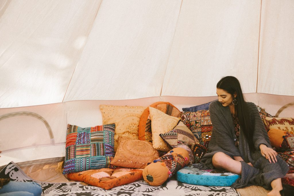 5m diameter Bell tent made from 100% cotton canvas