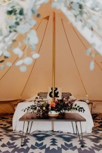 5m diameter bell tent interior, glamping, camping, bell tent, canvas tent, family tent, natural canvas tent, safari tent, australia, bedding, wedding night