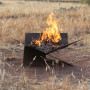 Fire pit accessory bell tent