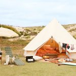 5m diameter bell tent ideal for glamping, surftrips, roadtrips, travelling exploring, luxury camping, tent, canvas tent, family tent, ideal tent for australian climate