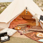 5m diameter Bell Tent ideal for glamping camping, family tent, instant hotel, guest room, backyard camping, surftrip,