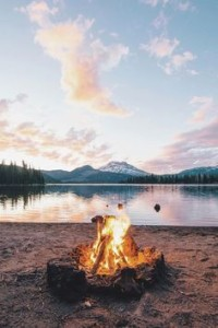 Fire on Beach, Breathe Bell Tent, Camp Cooking
