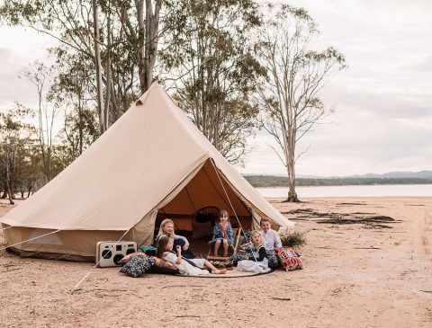 Bell Tent, Breathe Bell Tent Australia, Outdoor Furnishings, Glamping, Luxury Camping, Boho. Safari Style tents, Canvas tent, family camping, natural canvas, collaboration, camp tent,