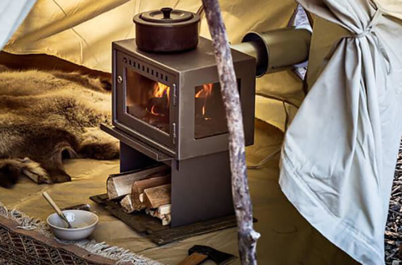 Orland Glamping Stove Bell Tent Breathe Bell Tents Australia