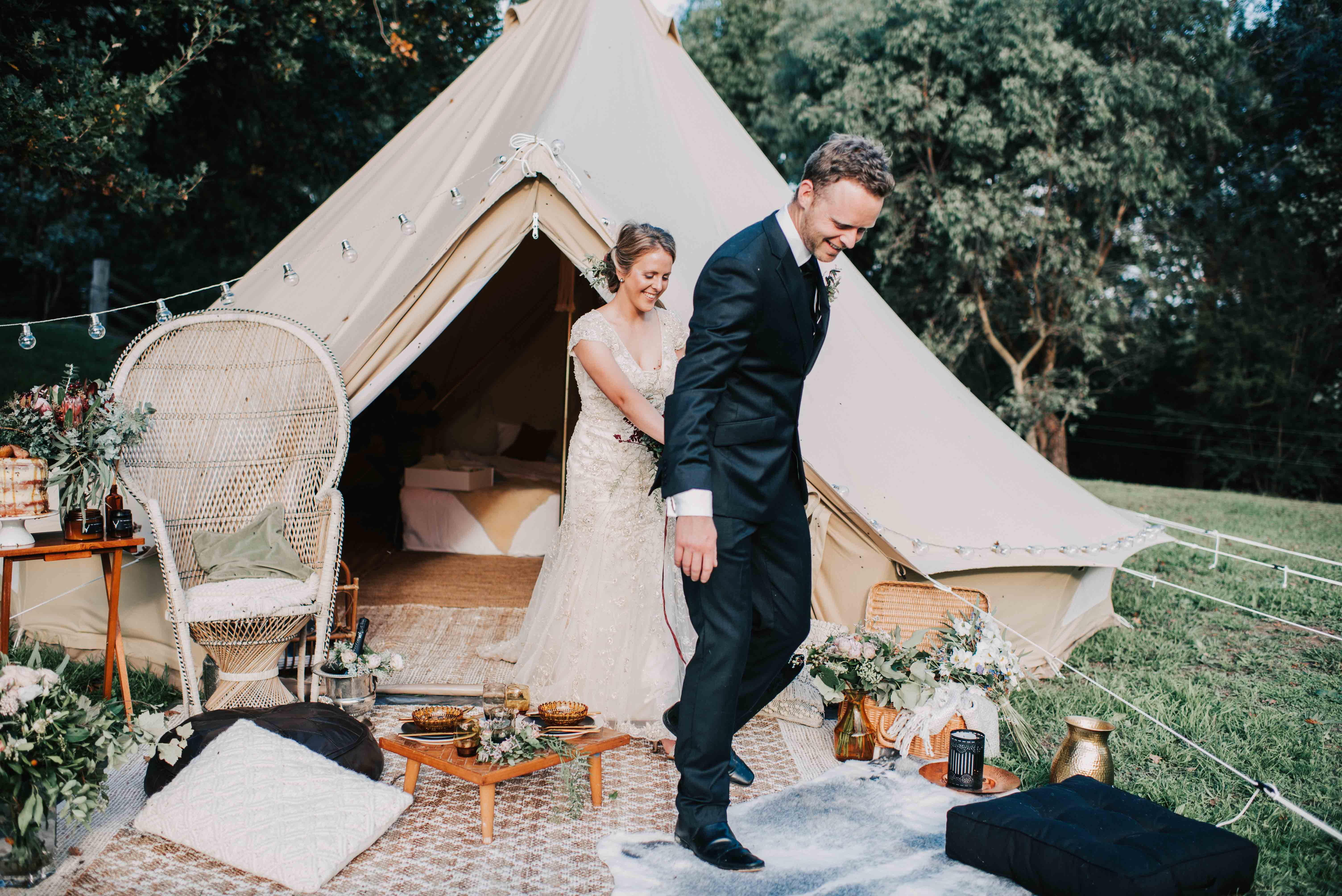 Bell Tent Glamping Elopement Packages