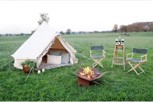 3m diameter Bell Tent and Fire Away Pit