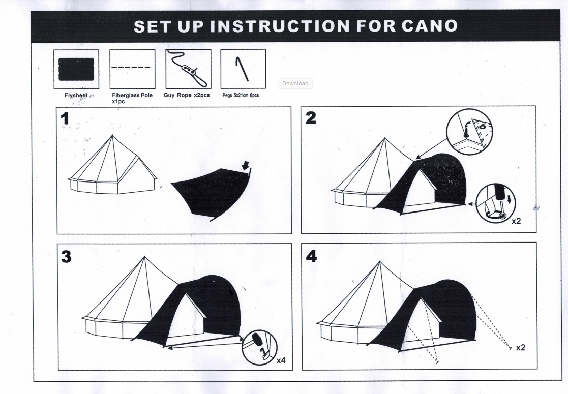 Bell Tent Shelter Instructions, Awning, Bell tent porch instructions set up