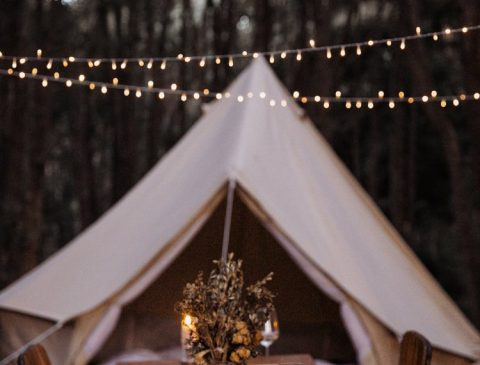 4.5m diameter Bell Tent Breathe Bell Tents Australia ideal tent for camping and glamping natural cotton canvas