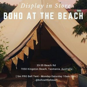 Bell Tent Display Tasmania Boho At the Beach