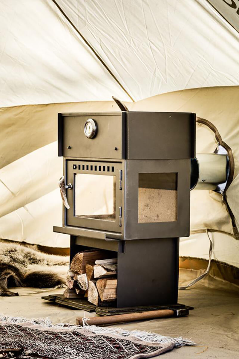 Orland Glamping Stove Oven Breathe Bell Tents Australia