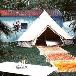 Guest Room, house guests, airbnb, bedroom, electric blankets, bell tent, chandelier, rugs, tent, byron bay, bell tent , protech