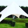 Starshade 1700 PRO Ideal tent for your glamping set up as meeting space, for your next party, event or garden wedding, sits up to 80 guests or 120 standing, shade sail, event tent, corporate branding, marjketing, tent, shade, shelter, camping, glamping, festival, styling, catering
