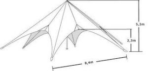 Starshade 1700 Pro Event Tent Marquee