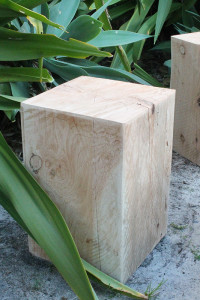 Glamping Accessory Wooden Black, Camp stool, Camp chair, glamping, campfire, bedside table, wooden block, Monterey Cypress