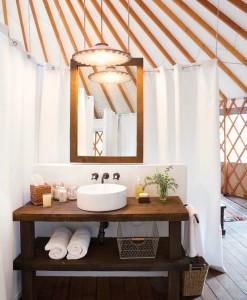Glamping Bathroom Amenities Design Ideas - Breathe Bell Tents Australia Inspo